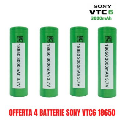 4 BATTERIE SONY VTC6 18650