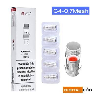 resistenza C4-0,7Mesh vaptio cosmo coil c4